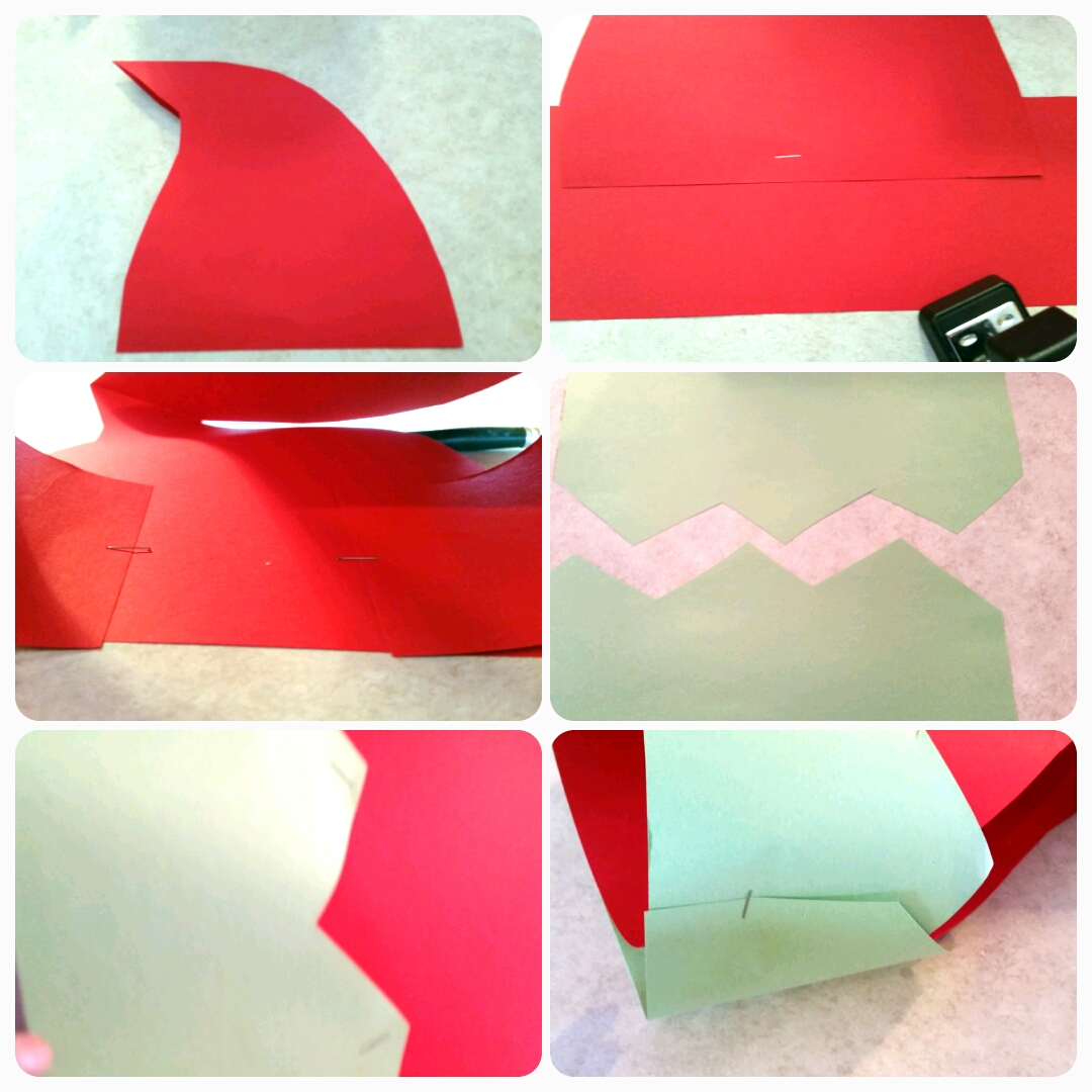 how to make elf hats out of construction paper
