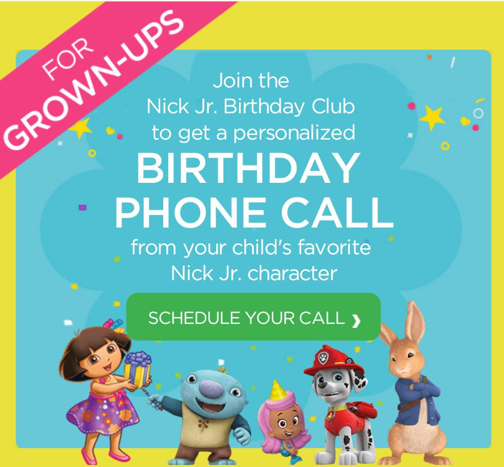 Nick Jr Birthday Call